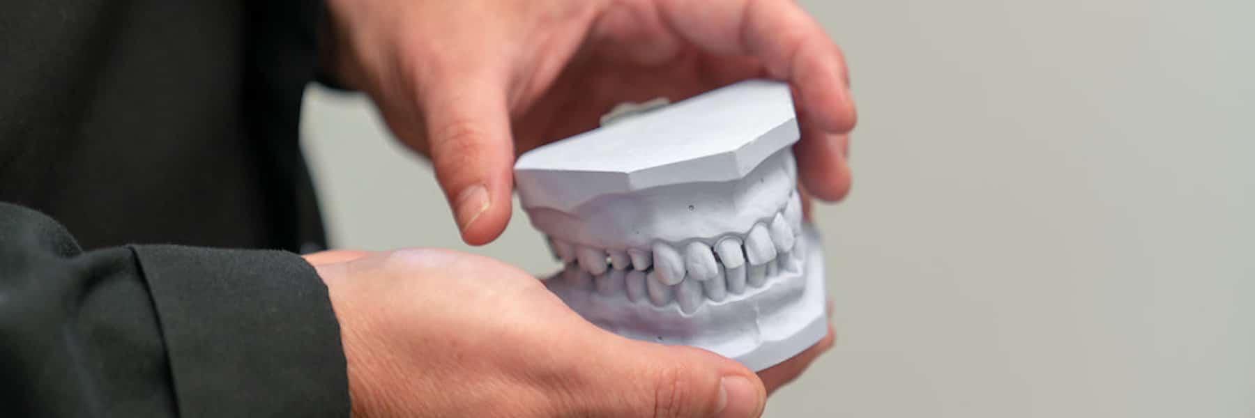 set of plastic teeth